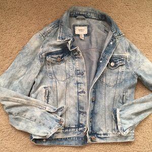 Acid wash forever 21 denim jacket